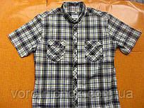 Мужская рубашка клетка - короткий рукав