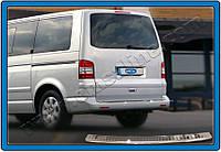 Накладки на задний бампер Volkswagen T5 Caravelle (2003-) нерж.- без надписи Omsa
