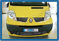 Защита переднего бампера Opel Vivaro II-FL (2010-2014) 6 шт. нерж. Omsa