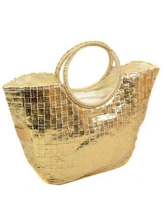 Сумка Женская Корзина текстиль Podium PC7167-1 gold, фото 2