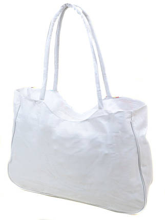 Сумка Женская Пляжная текстиль Podium /1323 white, фото 2