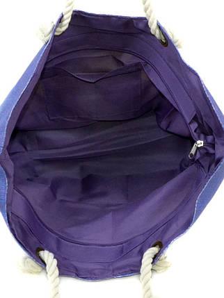 Сумка Женская Пляжная текстиль Podium PC 9140-1 blue печать, фото 2