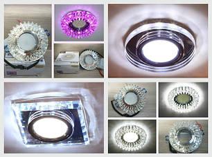 Точечные светодиодные светильники (с LED подсветкой)