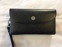 Черный кожаный кошелёк KARYA, фото 1