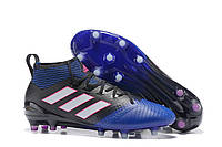 Футбольные бутсы adidas ACE 17.1 PureControl FG Core Black/White/Blue