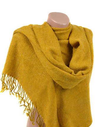 Шарф Женский Осень-Зима вязка A3268 yellow, фото 2