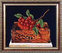 Набор для вышивания бисером Рябина на шкатулке