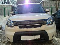 Дефлектор капота, мухобойка KIA Soul 2009- SIM