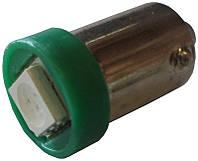 Светодиодная автолампа Cristal BA9S 1 LED 5050SMD зеленая