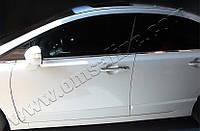 Нижние молдинги стекол Honda Civic SD (2006-2011) (нерж.) 6 шт