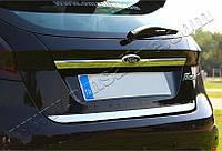 Накладка над номером Ford Fiesta 5D (2009-) (нерж.) Omsa