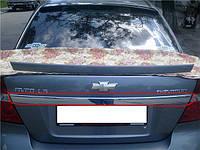 Накладка на планку багажника Chevrolet Aveo (2006-2011) нерж. Carmos