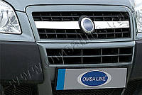 Накладки на решетку радиатора Fiat Doblo (2006-) (нерж.) 2 шт