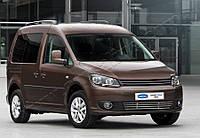 Защита переднего бампера Volkswagen Caddy Facelift (2010-) нерж. Omsa