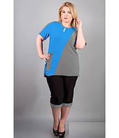 Костюм женский кофта+брюки, комбинированный с полоской. В разных цветах