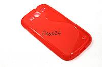 Чехол накладка для Samsung Galaxy S3 красный, фото 1