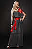 Платье шифоновое мод 306-2,темно синий размер 44-46,46-48