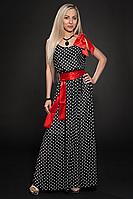 Платье шифоновое мод 306-2,темно синий размер 44-46