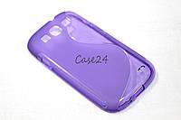 Чехол накладка для Samsung Galaxy S3 фиолетовый, фото 1