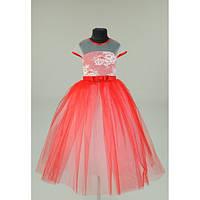 Платье нарядное красное 6-8 лет Dina41
