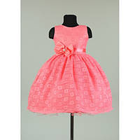 Платье нарядное коралловое 5-7 лет Dina22