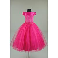 Платье нарядное малиновое 6-8 лет  Dina28