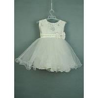 Платье детское нарядное кремовое 2-3 года