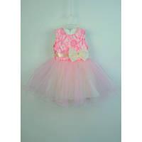 Платье нарядное розовое 2-3 года Dina67