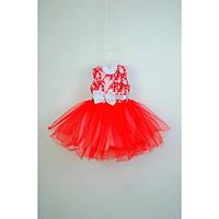 Платье детское нарядное красное 2-3 года