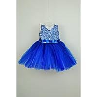 Платье детское нарядное синее 2-3 года