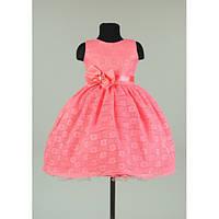 Платье нарядное коралловое 2-4 лет Dina22m