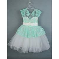 Платье нарядное бирюзовое 3-5 лет года Dina-20