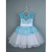 Платье нарядное голубое 3-5 лет года Dina-21