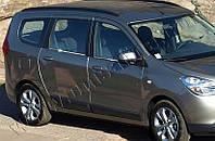 Нижние молдинги стекол Renault, Dacia Lodgy (2013-) (нерж.) 4 шт