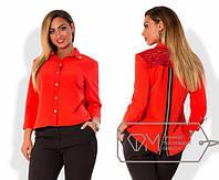 Стильная асимметричная блуза, р-ры 48-54 (разные цвета)