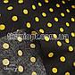 Ткань Штапель горох черно-желтый (5-6мм), фото 2