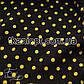 Ткань Штапель горох черно-желтый (5-6мм), фото 3