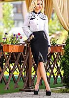 Классическая черная юбка до колен