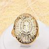 002-1929 - Позолоченный перстень с прозрачными фианитами, 19 р.