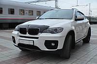 Дефлектор капота, мухобойка BMW X6 (E71) 2007- короткий, темный SIM