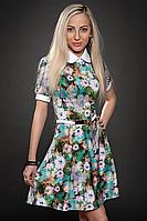 Платье  мод 429-1 размер 48 бирюза