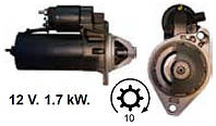 Стартер Opel Astra, Kadett, Vectra, Ascona 1.6 D/1.7 TD, ВАЗ 2108-2109 Bosch
