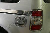 Накладка на лючок бензобака Volkswagen Caddy Facelift (2010-) (нерж.) Omsa