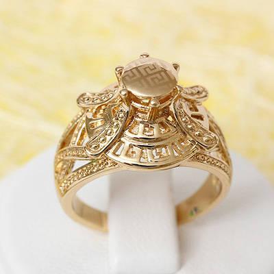 002-2287 - Позолоченное кольцо, 17 р.