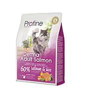 Корм Profine Cat Derma Adult Salmon, для довгошерстих кішок, лосось і рис, 0,3 кг 170571