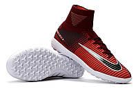 Футбольные сороконожки Nike MercurialX Proximo TF Total Crimson/Black/White, фото 1