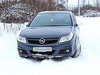 Реснички на фары Opel Vectra C (2005-2009) Facelift стеклопластик (Orticar)