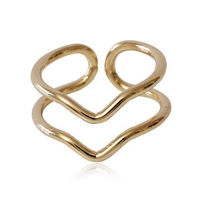 002-2216 - Позолоченное кольцо, регулируется от 16 до 18 р.