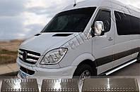 Накладки на пороги Mercedes Sprinter (2006-) (нерж.) 3 шт.