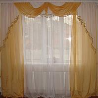 Комплект классика  штор и гардин 2,5м, фото 1